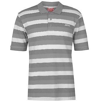 Slazenger Mens Pique Polo Maglietta T Shirt t-shirt Maglie manica corta
