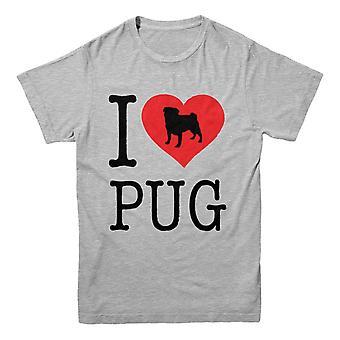Official Pet-Selfie T-Shirt -I Love PUG