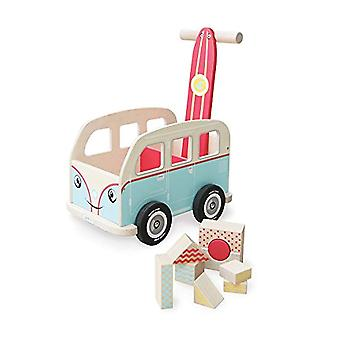 Indigo Jamm Colin Walkervan Activity Baby Walker with Retro Classic Campervan Design for Children Aged 12 Months Plus