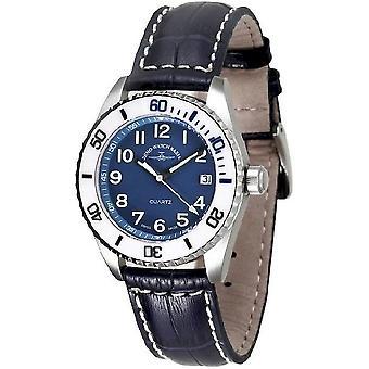 Zeno-watch ladies watch of diver ceramic medium size blue 6642-515Q-s4