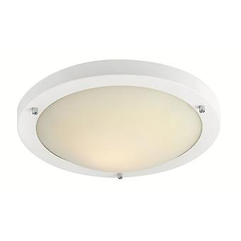 Firstlight-LED 24 luz de techo empotrado blanco mate, vidrio opal IP44-8611WH