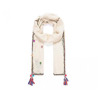 Intrigue Womens/Ladies Pompom Scarf With Tassels