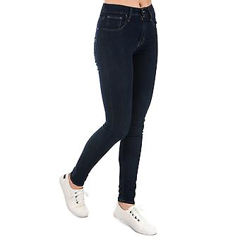 Womens Levi's 721 High Rise Skinny Jeans In Lone Wolf