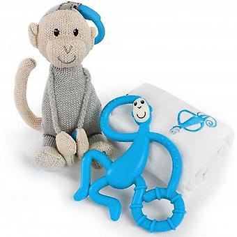 Matchstick Monkey Teething Gift Set, Blue