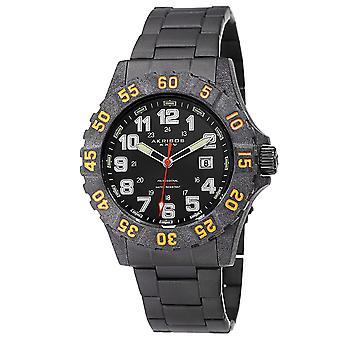 Akribos XXIV AK794OR quarzo Divers in fibra di carbonio cassa del braccialetto nero Watch