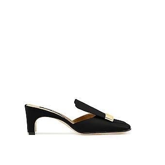 Sergio Rossi A78000mnan071000 Femmes-apos;s Black Leather Slippers