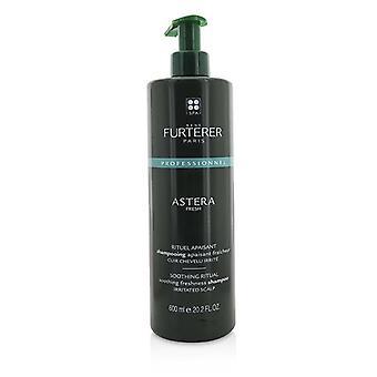 Rene Furterer Astera fresco calmante ritual calmante frescor shampoo-couro cabeludo irritado (produto de salão)-600ml/20.2 oz