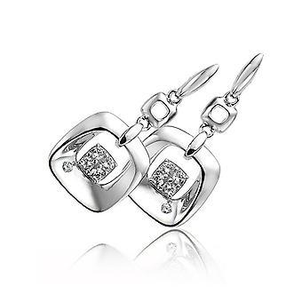 Orphelia 925 Silver Earring Square z cyrkonium