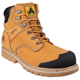Amblers Safety Mens FS226 Goodyear Welted Waterproof Lace up Industrial Safety Boot Honey