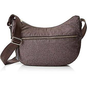 Borbonese Luna Bag Spring/Summer - Women Brown shoulder bag 28x24x11 cm (W x H x L)