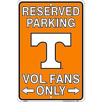 Tennessee Volunteers NCAA Fans Only Reserved Parking Sign