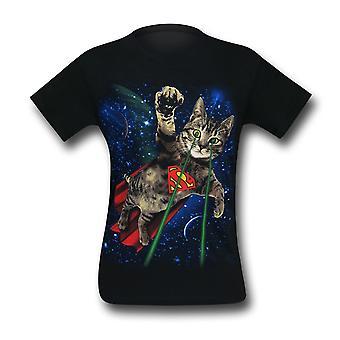 Superman Super Kitty w Space Men's T-Shirt