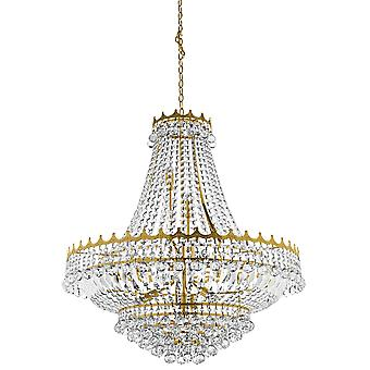 Versailles Gold Finish Thirteen Light Chandelier With Crystals - Searchlight 9112-82GO