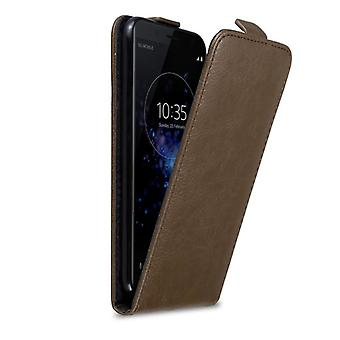 Cadorabo Case for Sony Xperia XZ2 COMPACT Case Cover - Phone Case in Flip Design with Magnetic Closure - Case Case Case Case Case Book Folding Style