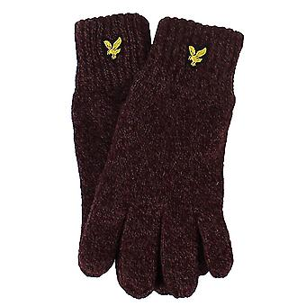 Lyle & scott mouline berry and burgundy gloves