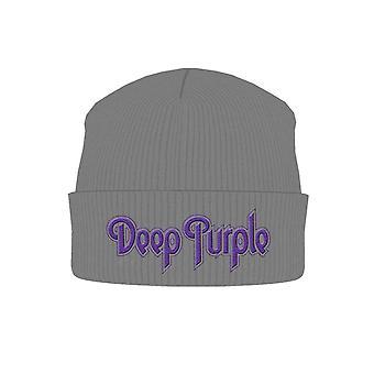 Deep Purple Beanie Hat Cap classic Logo Official New grey