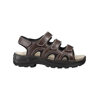 Chums Mens Touch Fasten Leather Sandal