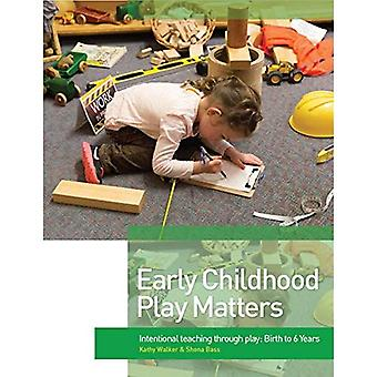 Early Childhood Play Matters: Intentional teaching through play: Birth to 6 Years