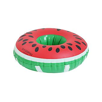 Inflatable cup holder melon
