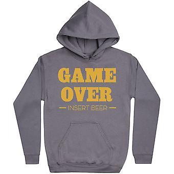 Game Over - Insert Beer - - Mens Hoodie