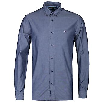 Tommy Hilfiger Regular Fit Carbon Navy Poplin Long Sleeve Shirt