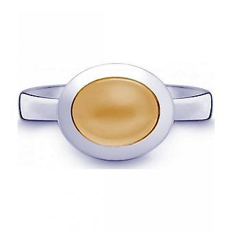 QUINN-ring-kvinder-sølv 925-ædelsten-Citrine-bredde 56-21515611