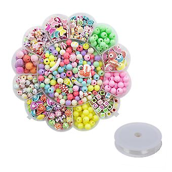 TRIXES 530PC Kids Necklace and Bracelet Making Kit Make your own Jewellery
