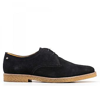 Base London Whitlock Mens Leather Casual Lace Ups Navy