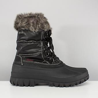 Skechers ويندوم ثلجي السيدات منتصف العجل الشتاء الأحذية السوداء