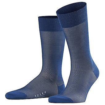 Meias de lã da sombra fina de Falke - azul da tinta