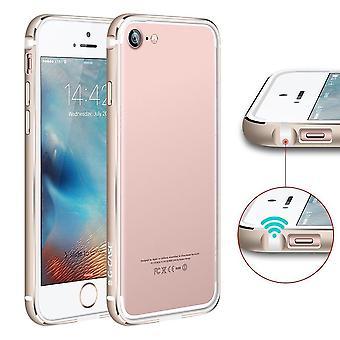 Bumper Bi-matter IPhone 7 Contour White And Golden