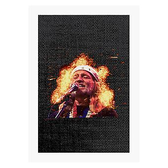 TV Times Country And Western Singer Willie Nelson A4 Print