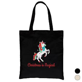 Christmas Magical Unicorn Cool lerret bag ferie gave