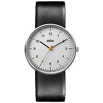 Braun Unisex Black Leather Minimalist BN0021BKG Watch