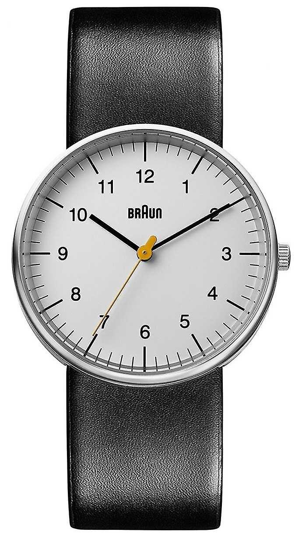 Braun Unisex Black Leather Minimalist BN0021BKG Watch