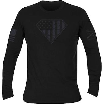 Grunt Style Super Patriot Long Sleeve T-Shirt - Black