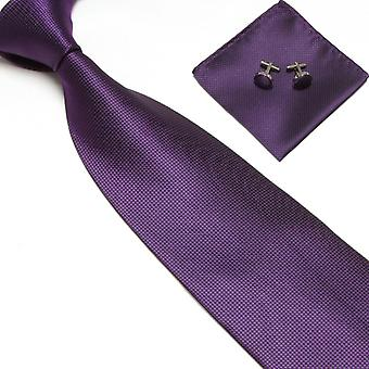 Costume Accessories | Tie + handkerchief + cufflinks-Purple