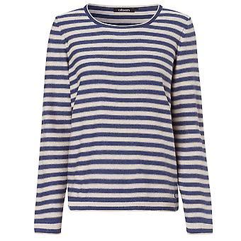 OLSEN Olsen Striped Sweater 11003120 Indigo Or Off White