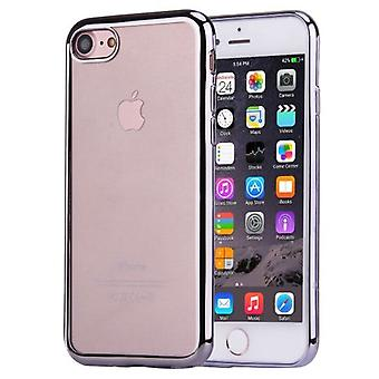 Para iPhone SE(2020), 8 & 7 Case, elegante funda protectora transparente de galvanoplastia, gris