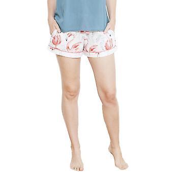 Cyberjammies 3656 Women's Grace White Motif Pajama Pyjama Short