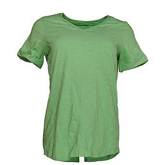 C. Wonder Women's Top Essentials Slub Knit Short Sleeve Green A287637