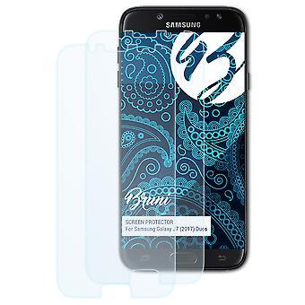 Bruni 2x näytönsuoja yhteensopiva Samsung Galaxy J7 (2017) Duos suojaava kalvo