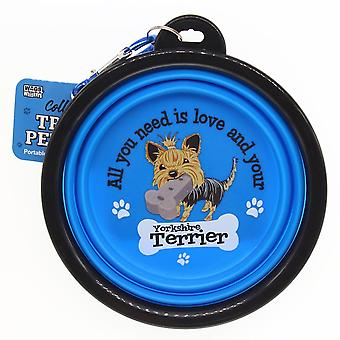 Wags & Whiskers Travel Pet Bowl - Yorkshire Terrier