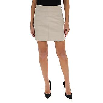 Theory J1200303q3w Women's White Leather Skirt