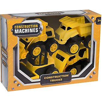 Construction Machines - 4 Pack Construction Trucks