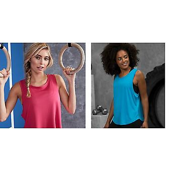 AWDis Just Cool Womens/Ladies Girlie Smooth Sports Sleeveless Vest