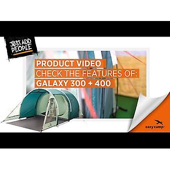 Easy Camp Go Galaxy 300 3 Person Tunnel Tent Teal Green