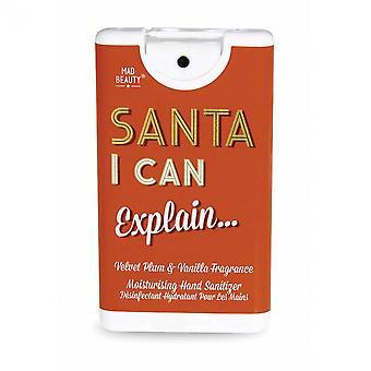 Mad Beauty Moisturising Hand Sanitizer - Velvet Plum & Vanilla - Santa I Can Explain...