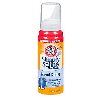 Jednoducho soľný Sterilný fyziologický nosovej hmly, 3 oz