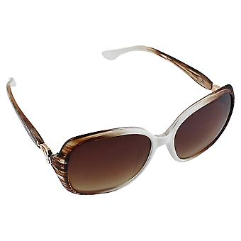 Sunglasses UV 400 Oval Brown White 2772_32772_3